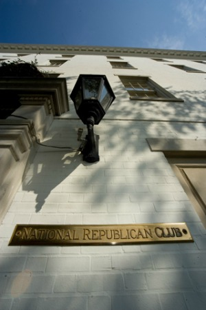National Republican Club nameplate